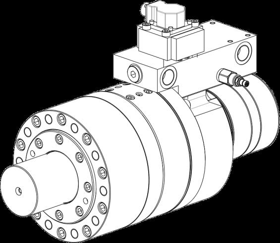 Semi rotary hydraulic actuators