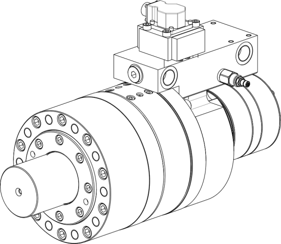 Semi rotary hydraulic actuators